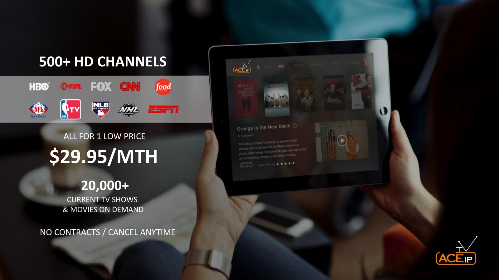ACE IPTV – Ditch the cable companies